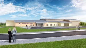 Artist impression of Banchory Sports Village