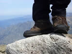 shoes on a summit